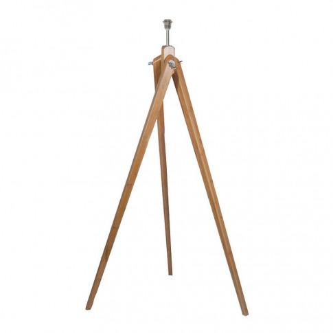 Bamboo Wood Tripod Floor Lamp Base