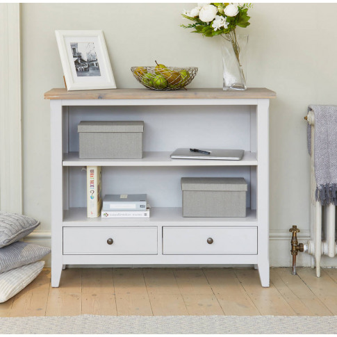 Ridley Grey Low Bookcase