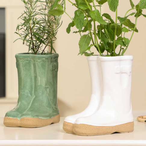 Holbrook Ceramic Wellington Boots Planter