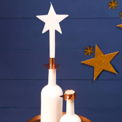 Christmas Candles And Star Candle Holders