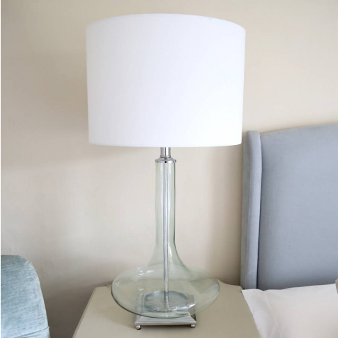 Fern Green Tinted Glass Table Lamp