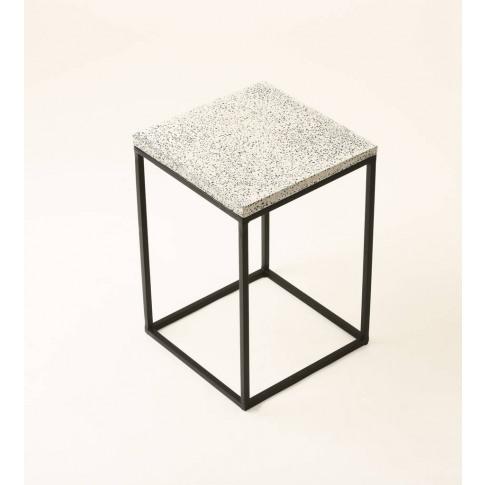 Rectangular Terrazzo Side Table