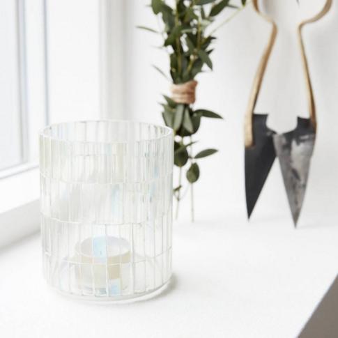 Glass Mosaic Tealight Holder