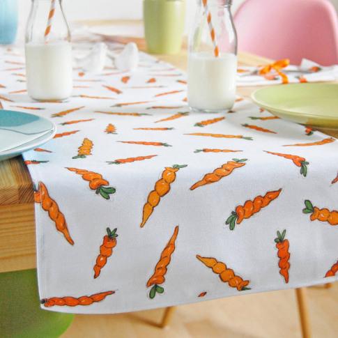 Carrot Fabric Table Runner