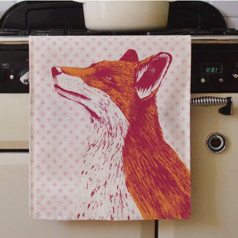 Fancy Fox Tea Towel