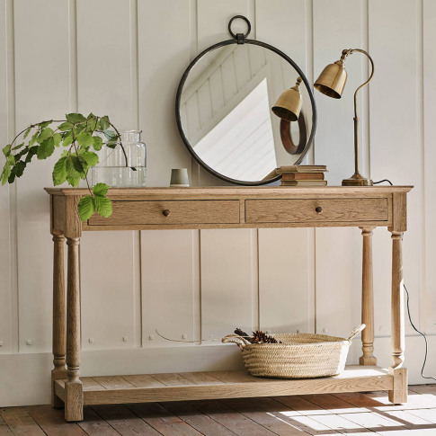 Everett Oak Console Table