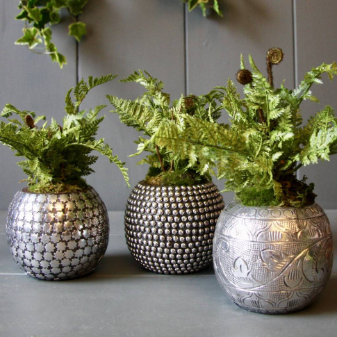 Pewter Succulent Planter