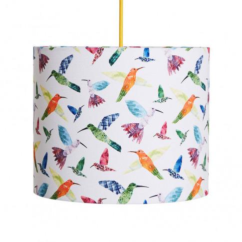 A Handmade 'Hummingbirds' Lamp Shade