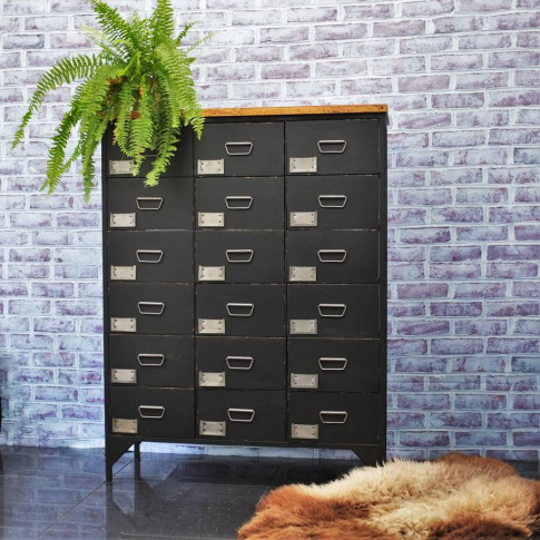 18 Drawer Apotecaire Cabinet Chalkboard