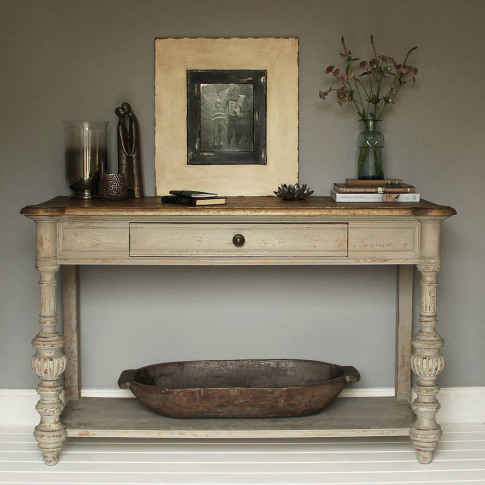 Grey Oak Console Table