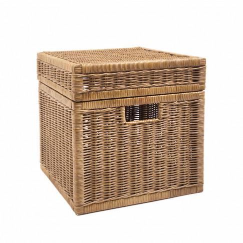 Square Wicker Storage Box