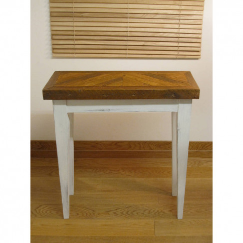 British Made Reclaimed Herringbone Top Console Table