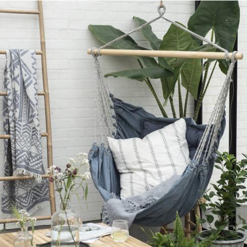 Handmade Denim Hammock Chair
