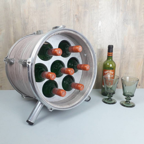 Drum Wine Rack With Lights
