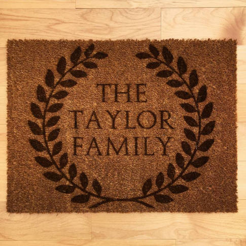 Personalised Roman Style Wreath Doormat