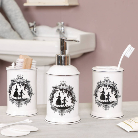 Toile De Jouy French Bathroom Storage Accessories