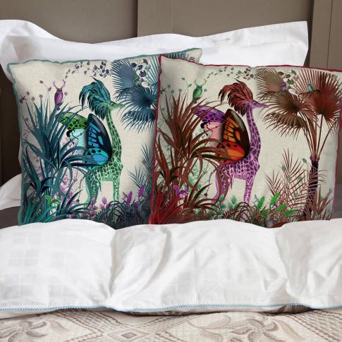 Tropical Giraffe Decorative Cushion