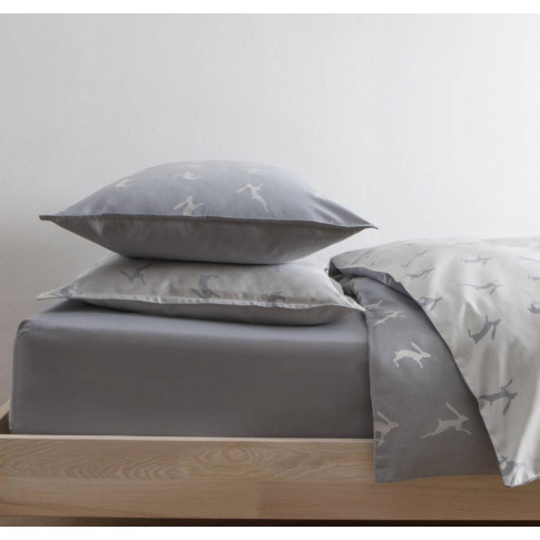 Running Hare Blue Grey Pillowcase