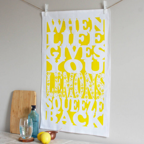 'Life Gives You Lemons' Tea Towel