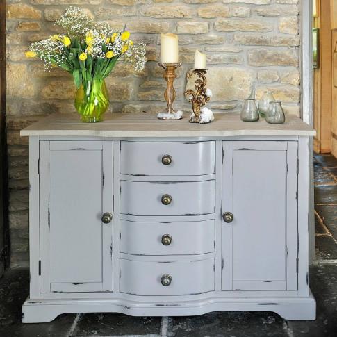 Warwickshire Two Door Sideboard Grey Or Ivory