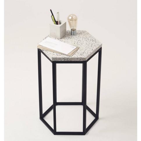 Hexagonal Terrazzo Side Table