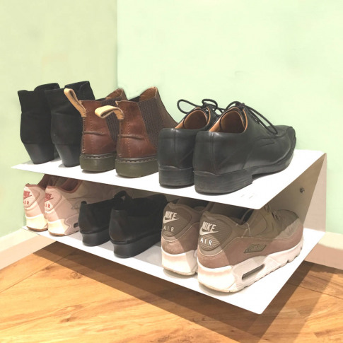 Wall Mounted Horizontal Shoe Rack