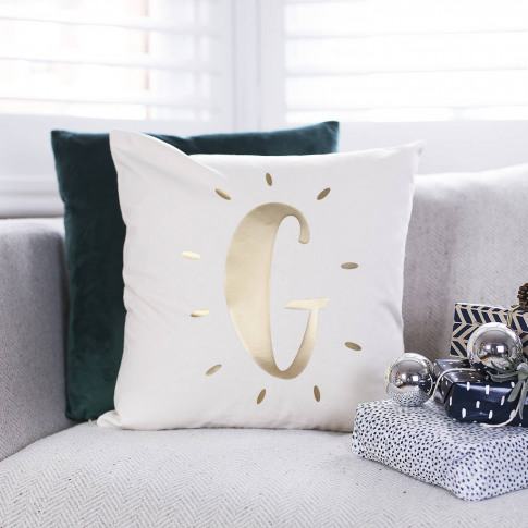 Personalised Glowing Initial Cushion