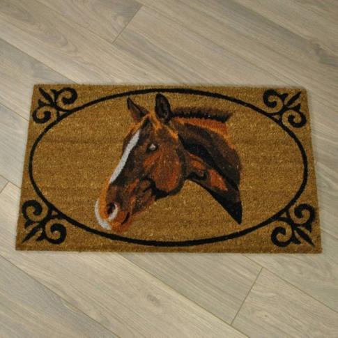 Horse Portrait Coir Doormat