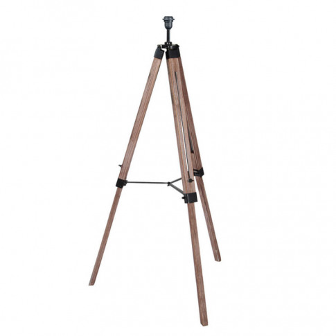 Industrial Wood Tripod Floor Lamp Base