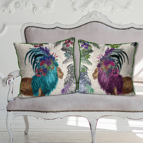 African Lions Decorative Cushions