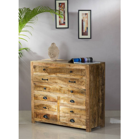 Laela Reclaimed Wood Furniture Chest Of Drawers