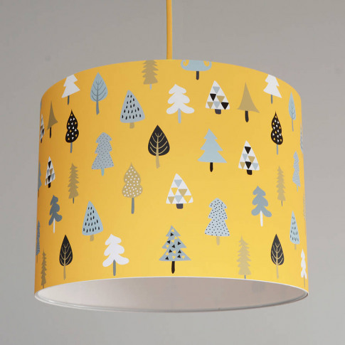 Little Trees Handmade Paper Lampshade