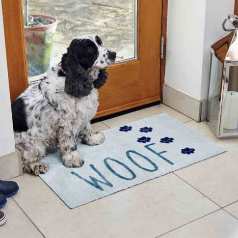 Dog Woof Paw Print Doormat