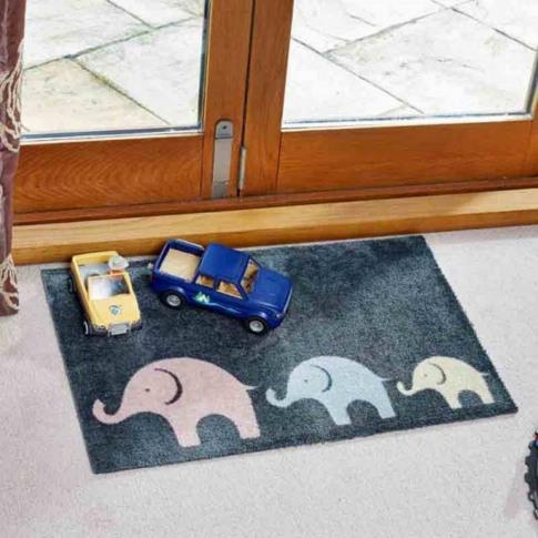 Elephant Family Doormat
