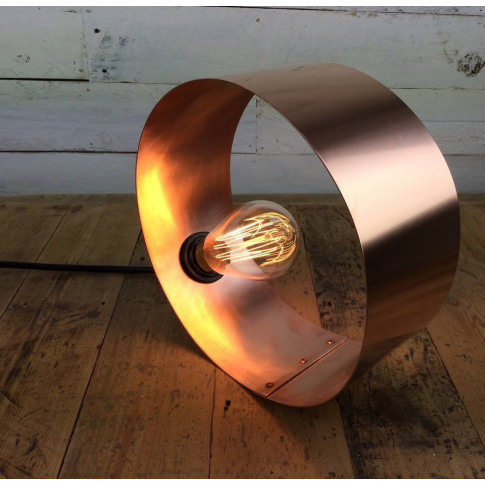 Mousehole Hand Rolled And Rivited Copper Desk Lamp