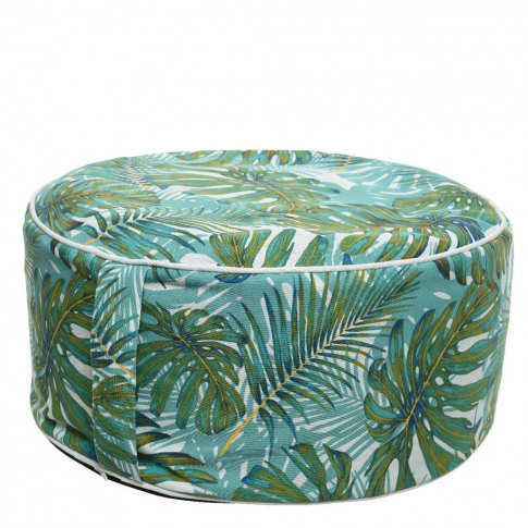 Indoor Outdoor Palm Leaf Pouffe