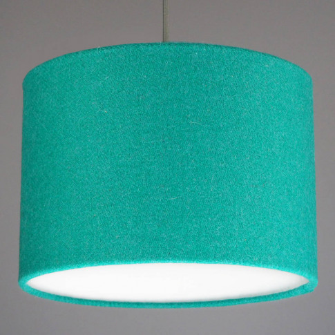 Jade Green Harris Tweed Wool Lampshade