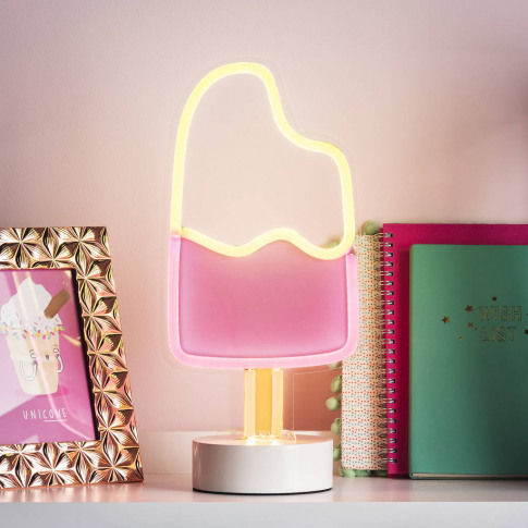 Ice Lolly Neon Table Light