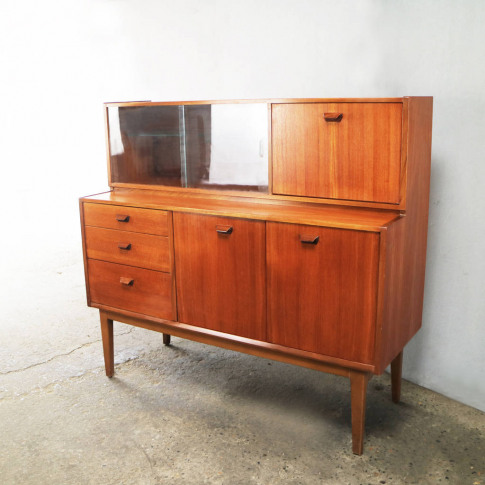 1970'S Mid Century Highboard / Tall Sideboard By Nathan