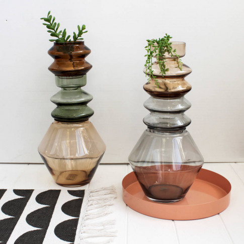 Stackable Coloured Glass Vase