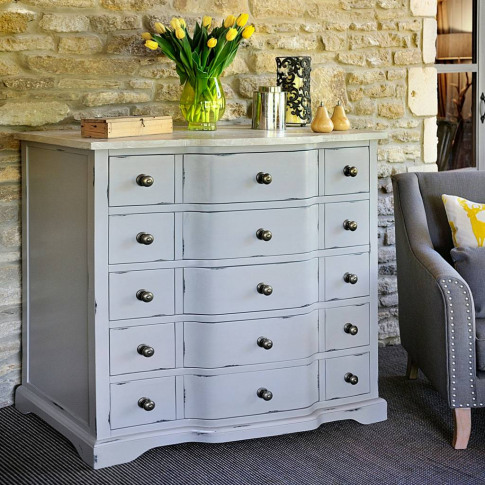 Warwickshire Large Chest Of Drawers Grey Or Ivory