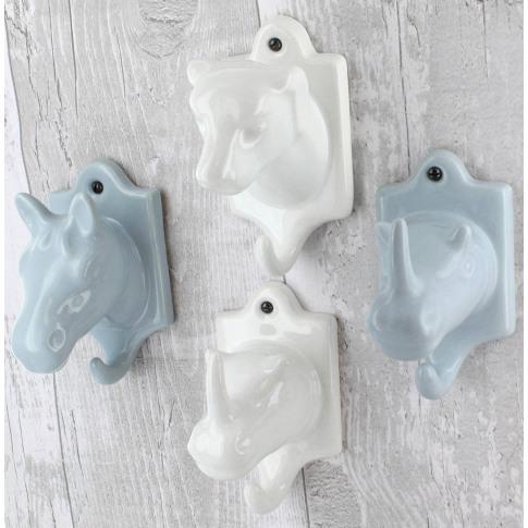 Horse Ceramic Coat Hooks