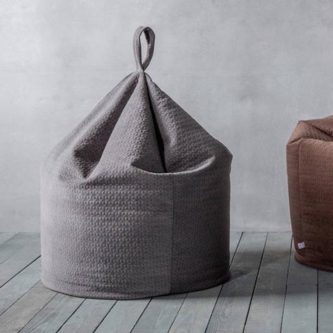 Soft Grey Bean Bag