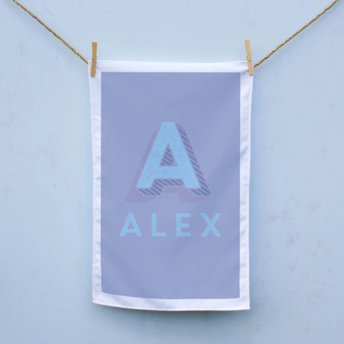 Personalised Carnival Letter Tea Towel
