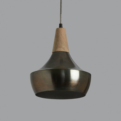 Floyd Metal And Wood Pendant Light