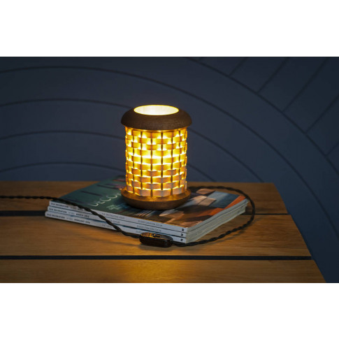 Small Weave Table Lamp