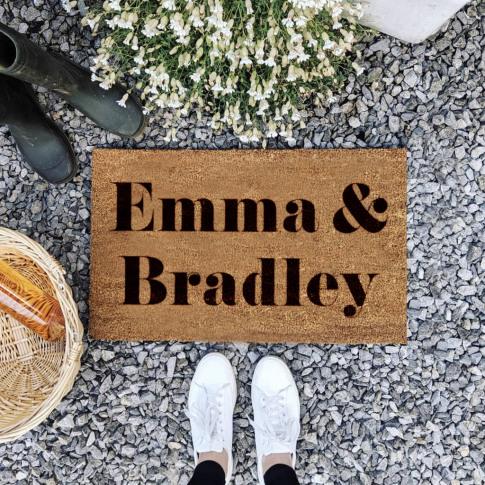Personalised Names Doormat