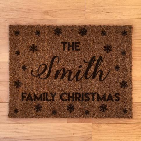 Personalised Family Christmas Doormat