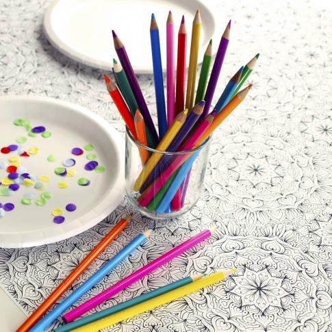 Colour In Mandala Table Runner