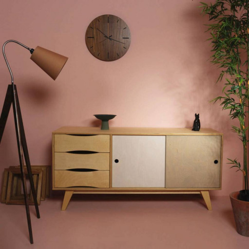So Sixties Wide Wooden Sideboard